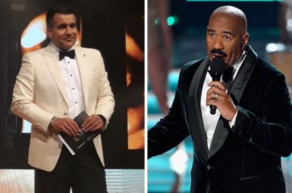 Carlos Calero y Steve Harvey