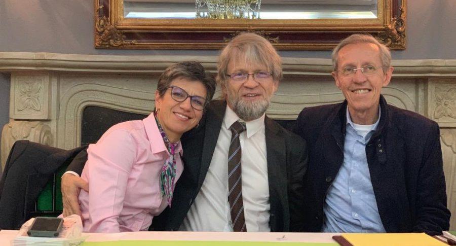 Claudia López, Antanas Mockus y Antonio Navarro