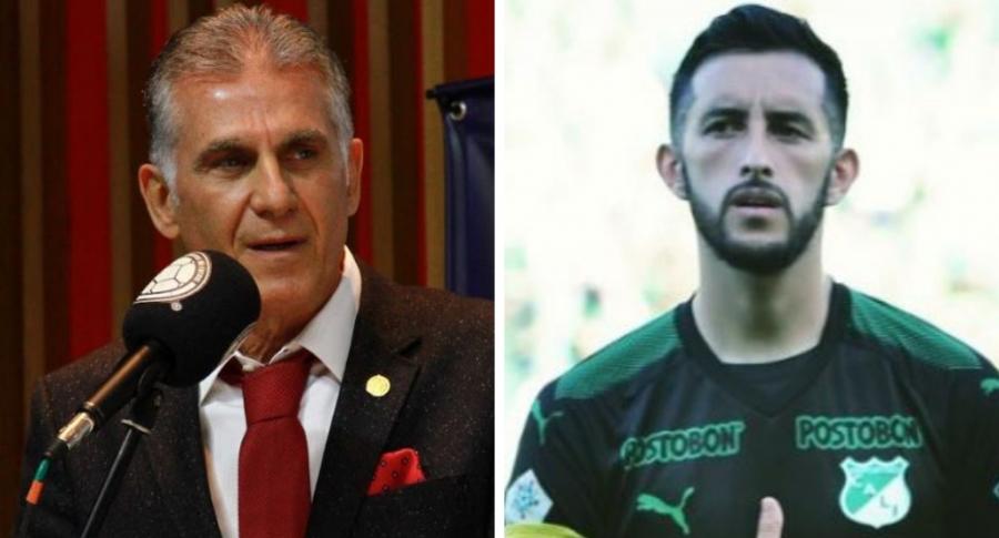 Carlos Queiroz y Camilo Vargas