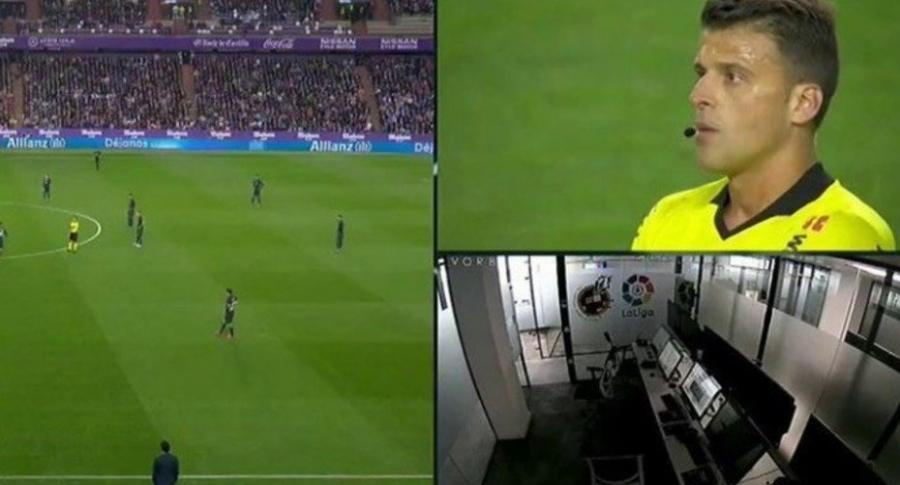 VAR en el partido de Real Madrid y Valladolid