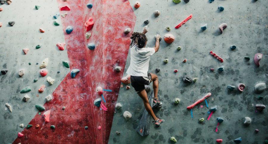 talento muro de escalar deporte joven