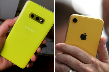 Galaxy S10e y iPhone XR