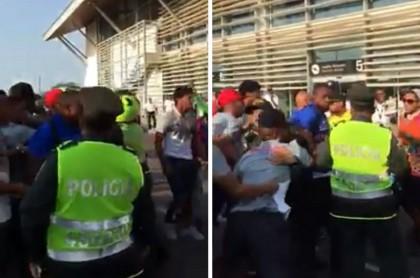 Pelea entre jugadores e hinchas del Unión Magdalena
