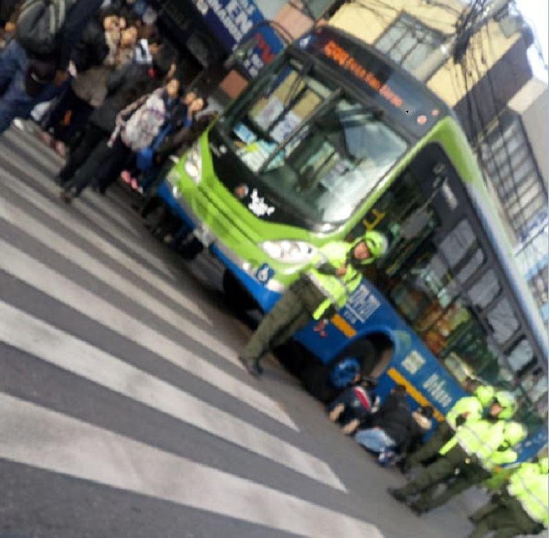 Accidente de ciclista con SITP