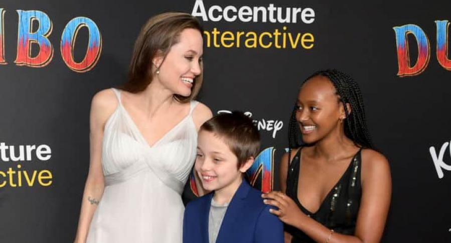 Angelina Jolie, Knox Jolie-Pitt y Zahara Marley Jolie-Pitt