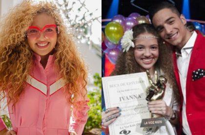 Ivanna de 'La voz kids' y Maluma
