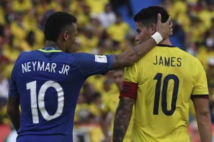 Neymar y James Rodrígez