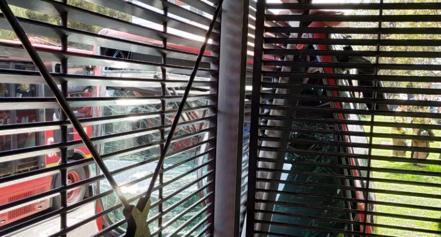 Accidente de buses de Transmilenio en estación Pepe Sierra