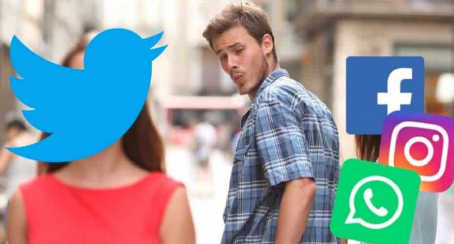 Meme por caída de redes sociales.