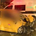 Accidente en el centro de Bogotá