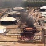 Explosión tanque petróleo