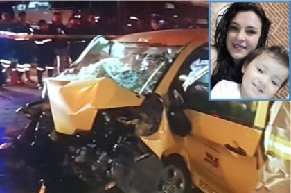 Accidente en el que murió Leidy Vanesa Huertas Rodríguez, su hija y la abuelita