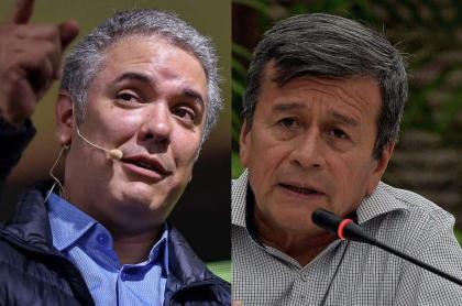 Iván Duque y Pablo Beltrán