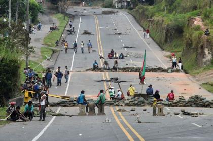 Protesta indígena en Cuca