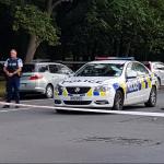 Policías acordonan el área en Christchurch