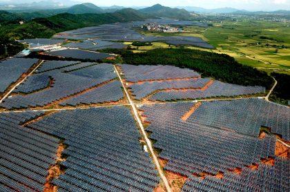 Proyecto de energía fotovoltaica en China.