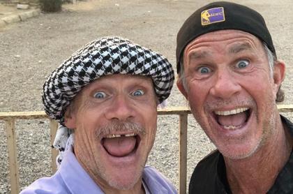 'Flea' y Chad Smith, de los Red Hot Chili Peppers