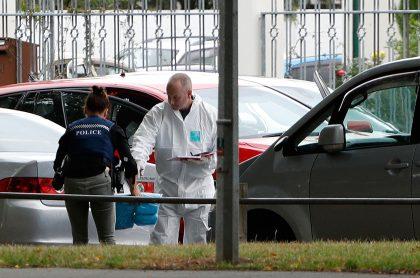 Forenses trabajan en el lugar de la masacre en Nueva Zelanda