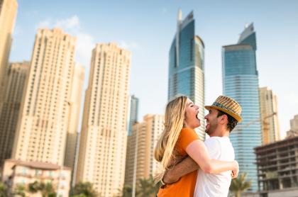 Turistas en Emiratos Árabes