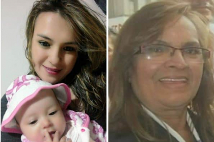 Leidy Vanesa Huertas, su hija Sara Mejía y su abuela Carmen Rosa Rodríguez, fallecidas
