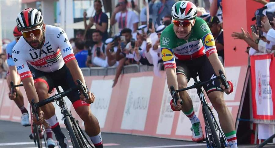 Fernando Gaviria y Elia Viviani