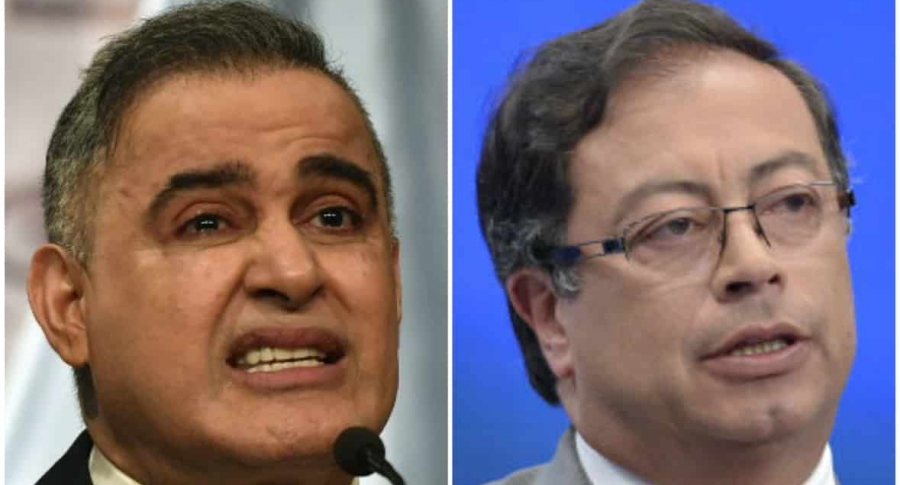 Tarek William Saab y Gustavo Petro
