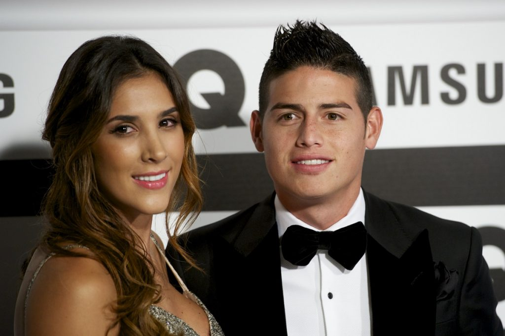Daniela Ospina, modelo, y James Rodríguez, futbolista.