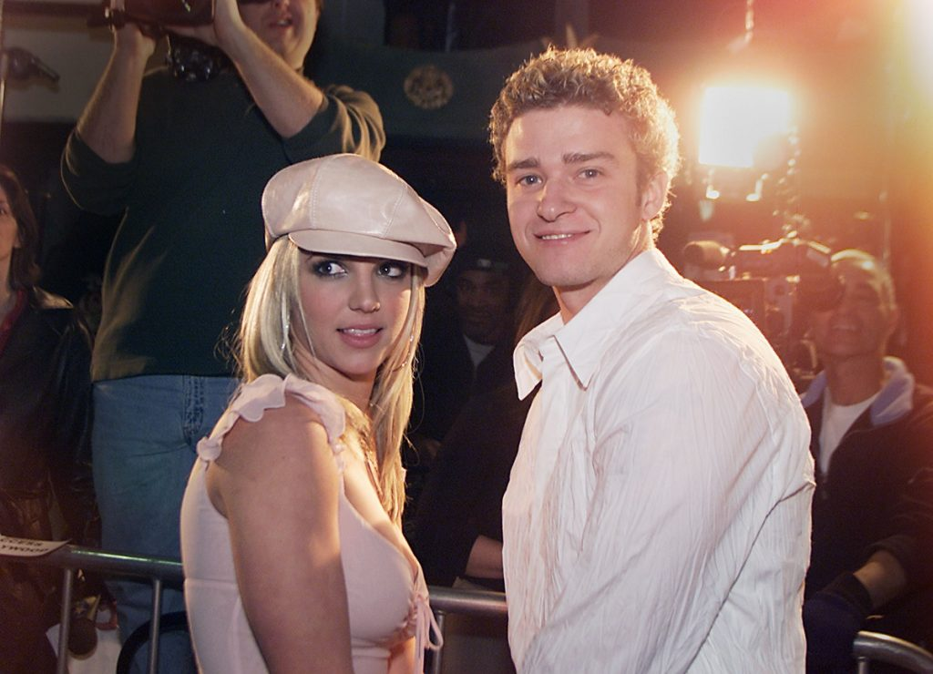 Britney Spears y Justin Timberlake, cantantes.
