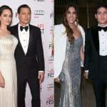 Angelina Jolie y Brad Pitt, actores; y Daniela Ospina, modelo, y James Rodríguez, futbolista.