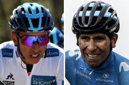 Egan Bernal y Nairo Quintana