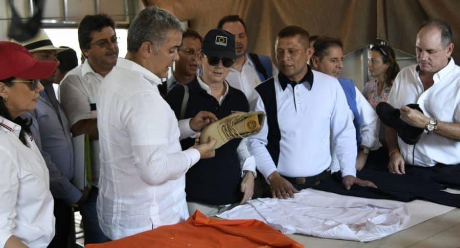Iván Duque visita a excombatientes