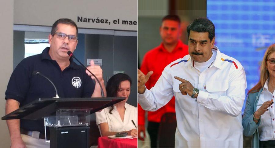Carlos Rotondaro, general del Ejército venezolano, y Nicolás Maduro, presidente de Venezuela.