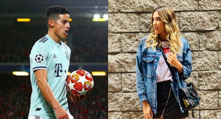 James Rodríguez y Daniela Ospina