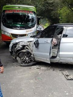 Camioneta de Johan Arango