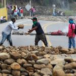 Vía Panamericana bloqueada