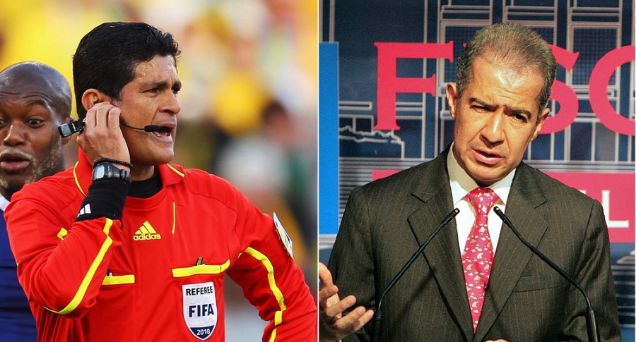 Óscar Julián Ruiz, exárbitro, y Mario Iguarán, exfiscal General de la Nación.