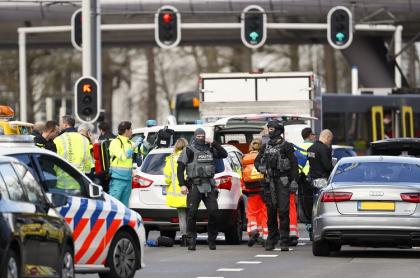 Escena del ataque en Holanda