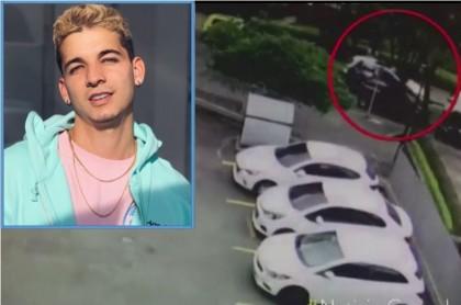 Momento en que el cantante Fabio Legarda es víctima de una bala perdida