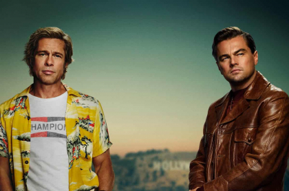 Brad Pitt y Leonardo DiCaprio en afiche de 'Once Upon A Time In Hollywood'