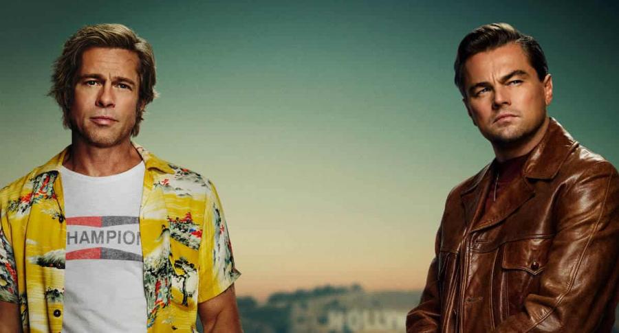 Brad Pitt y Leonardo DiCaprio en afiche de 'Once Upon A Time In Hollywood'