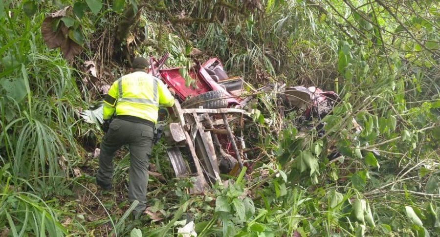 Accidente vial en Guayabetal.