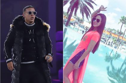 Daddy Yankee, cantante, y María Silena Ovalle, acordeonera.