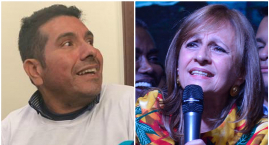 'Olivo Saldaña' y Ángela Robledo