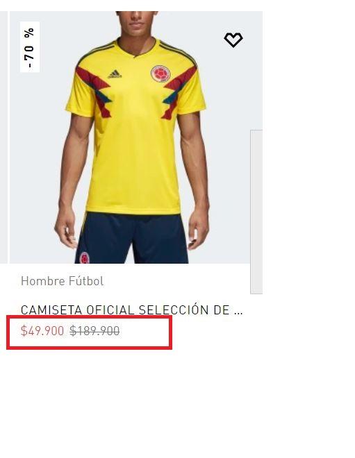 Camiseta de Colombia en el Mundial Rusia 2018