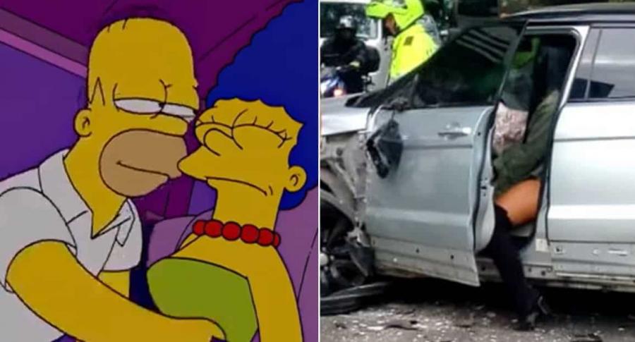 Los Simpson y Johan Arango