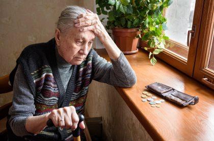 Jubilada sin dinero (ilustración)