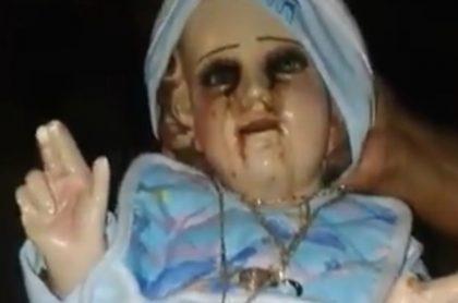 Video Figura De Niño Jesús Llora Lágrimas De Sangre Y Aterroriza
