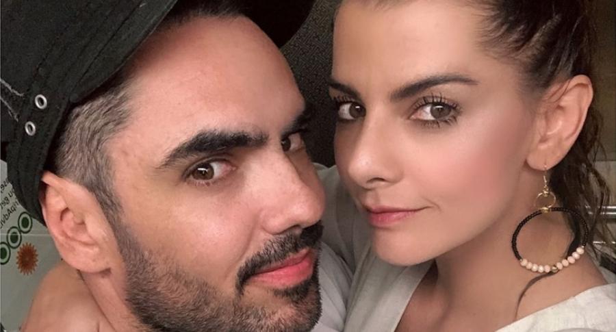 Lincoln Palomeque, actor, y Carolina Cruz, presentadora.