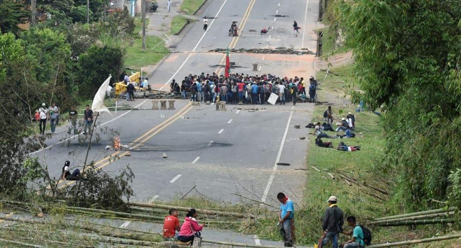 Protesta indígena en Cauca