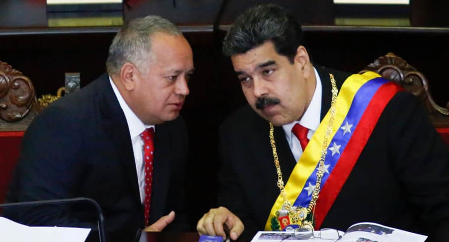 Diosdado Cabello y Nicolás Maduro